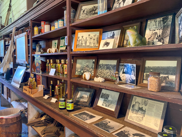 inside general store at Frogmore Plantation