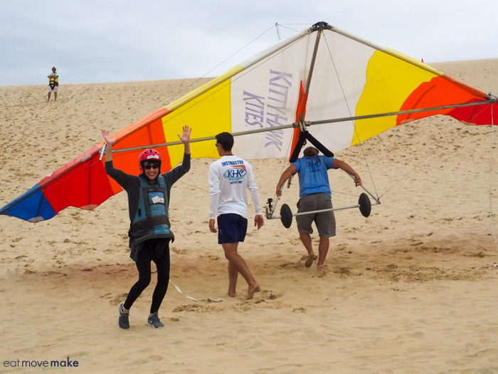 the thrill of hang gliding in the Outer Banks