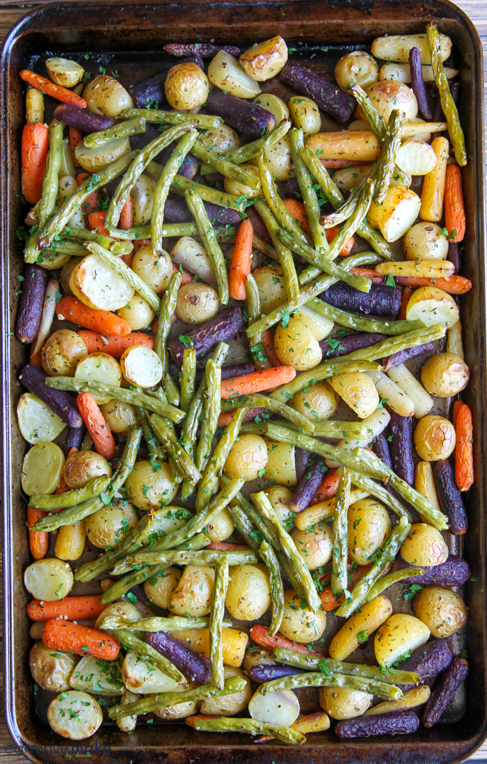 oven roasted sheet pan vegetables