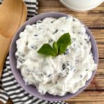 bowl of blueberry cheesecake salad
